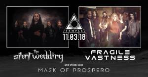 THE SILENT WEDDING/FRAGILE VASTNESS/MASK OF PROSPERO: Live τον Μάρτιο στην Αθήνα