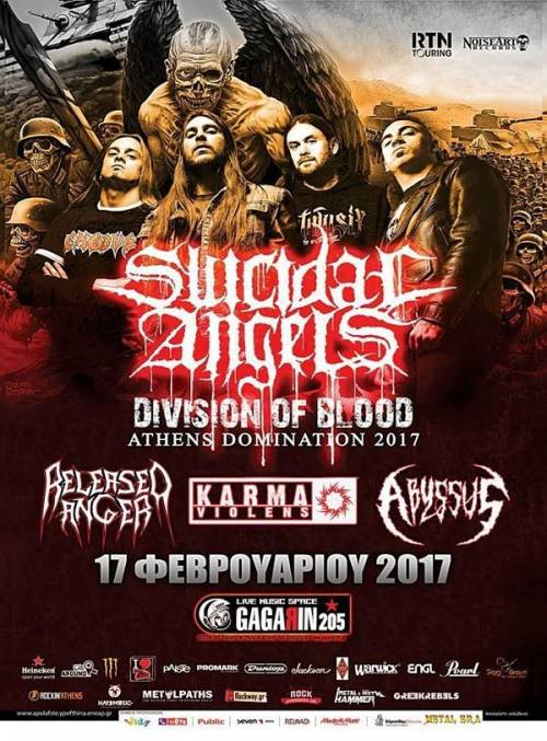 SUICIDAL ANGELS + GUESTS: Το πρόγραμμα του αυριανού live στην Αθήνα
