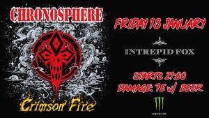 CHRONOSPHERE/CRIMSON FIRE: Live στην Αθήνα και στο Interpid Fox
