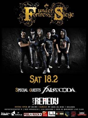 FORTRESS UNDER SIEGE: Live στο Remedy με special guests τους False Coda